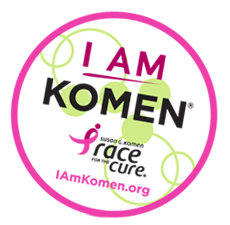 I am Komen Sticker